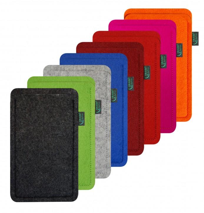 Smartphone Hülle Filz, 9 Filzfarben zur Auswahl, bitte wählen Sie Ihr Smartphone-Modell