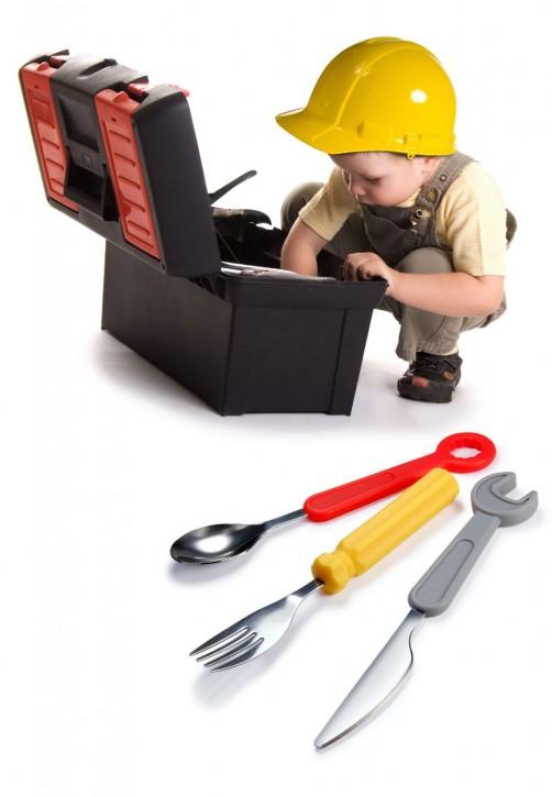 Kinderbesteck Werkzeug im Set