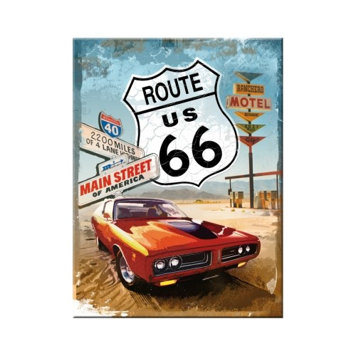 Magnet - Route 66 Red Car