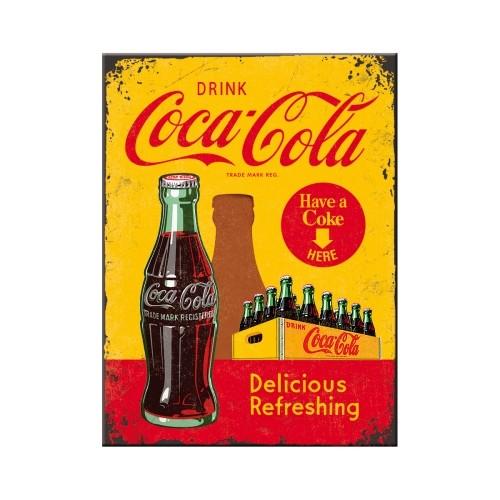 Magnet - Coca-Cola - In Bottles Yellow