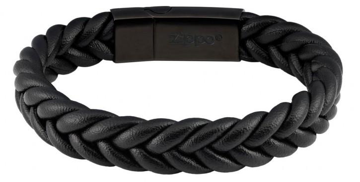 Zippo Armband - Geflochtenes Leder Armband