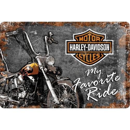 Blechschild Harley-Davidson Ride 20x30 cm