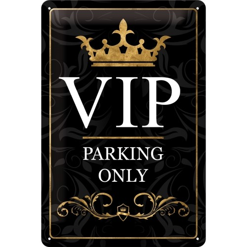 Blechschild VIP Parking only 20x30 cm