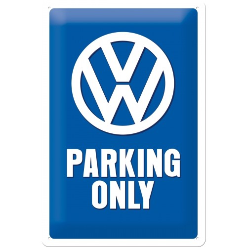 Blechschild VW Parking only 20x30 cm