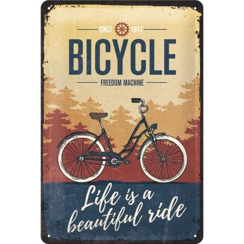 Blechschild - Bicycle - Beautiful Ride 20 x 30 cm