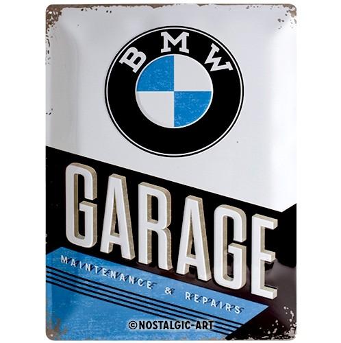 Blechschild - BMW - Garage, 30 x 40 cm