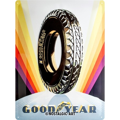 Blechschild - Goodyear - Rainbow Wheel, 30 x 40 cm