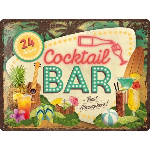 Blechschild - Cocktail Bar, 30 x 40 cm
