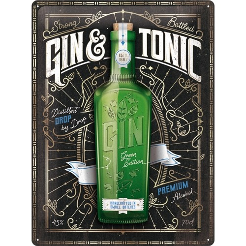 Blechschild - Gin & Tonic Green Edition - Special Edition, 30 x 40 cm