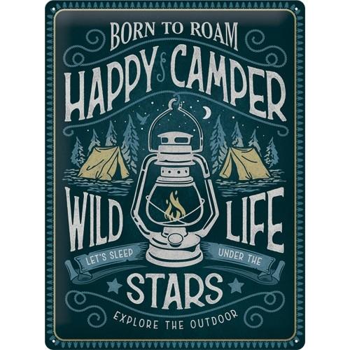 Blechschild - Happy Camper, 30 x 40 cm