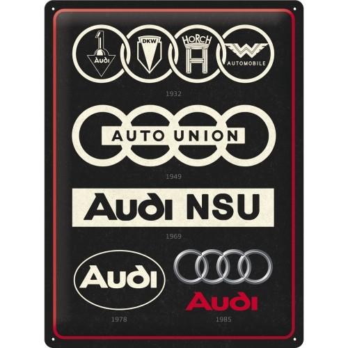Blechschild - Audi - Logo Evolution, 30 x 40 cm