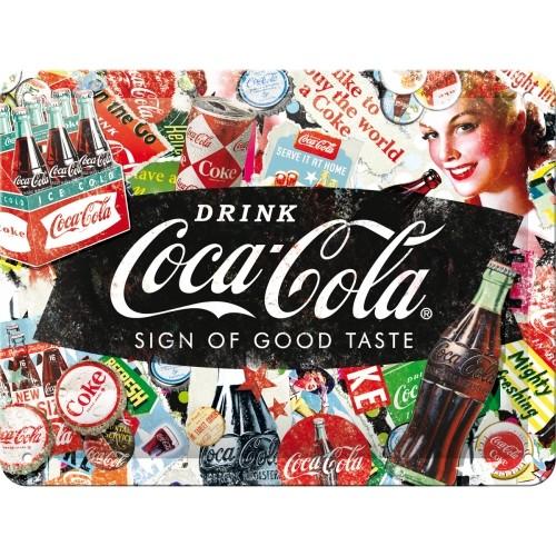 Blechschild - Coca-Cola - Collage, 15 x 20 cm
