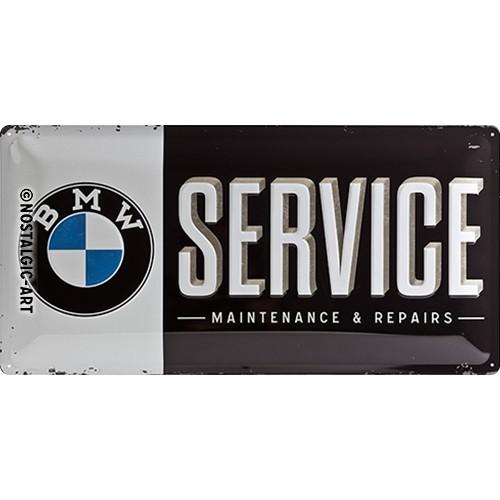 Blechschild - BMW - Service, 25 x 50 cm