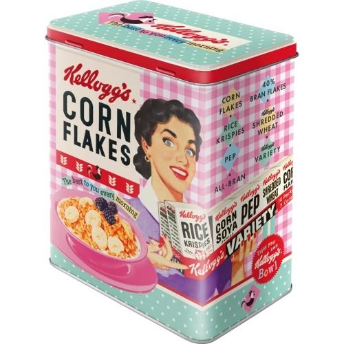 Vorratsdose (L) - Kellogg's - Happy Hostess Corn Flakes