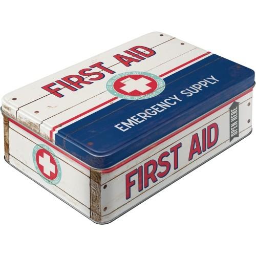 Vorratsdose (flach) - First Aid Blue - Emergency Supply