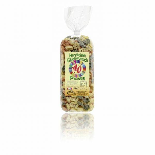 """Pfalznudel - 40 - """"Herzlichen-Glückwunsch-Pasta"""" bunt, 250g"""