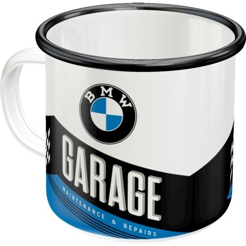 Emaille-Becher - BMW - Garage