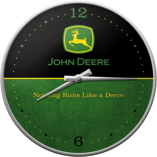 Wanduhr - John Deere Logo - Black and Green