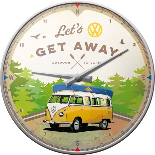 Wanduhr - VW Bulli - Let's Get Away