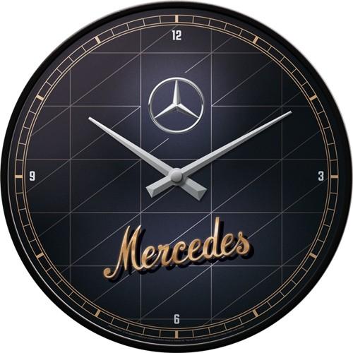 Wanduhr - Mercedes-Benz - Silver & Gold