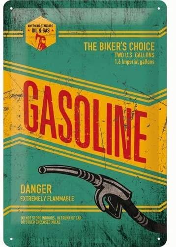 Blechschild - Gasoline 20 x 30 cm