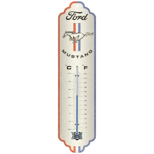 Thermometer - Ford Mustang - Horse & Stripes Logo
