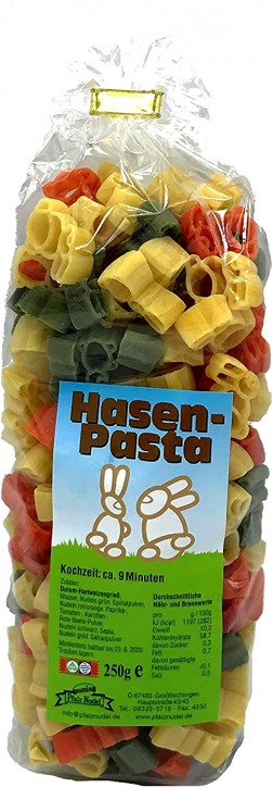 "Pfalznudel - ""Hasen Pasta"" bunt 250g"