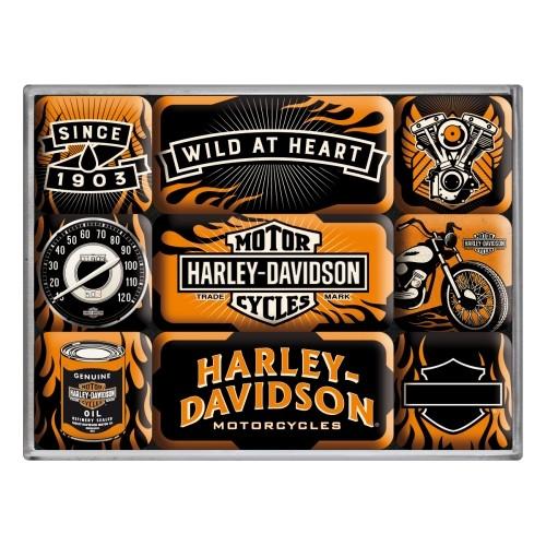 Magnet-Set (9tlg.) - Harley-Davidson Wild At Heart