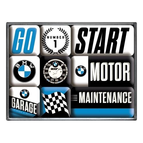 Magnet-Set (9tlg.) - BMW - Motor