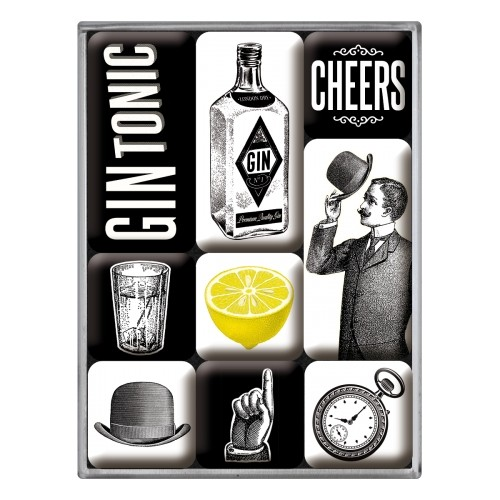 Magnet-Set (9tlg.) - Gin Tonic