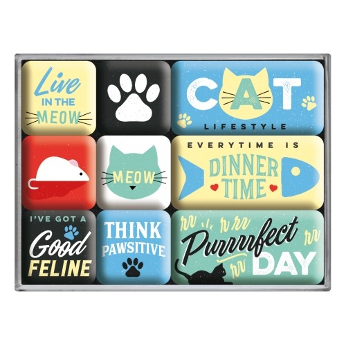 Magnet-Set (9tlg.) - Cat Lifestyle