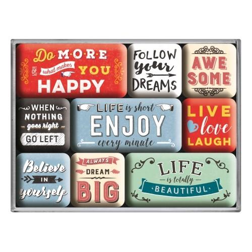 Magnet-Set (9tlg.) -  Enjoy Life