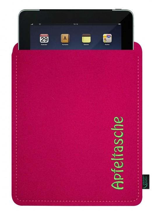 iPad 4 Tasche/Hülle Apfeltasche Filz Pink