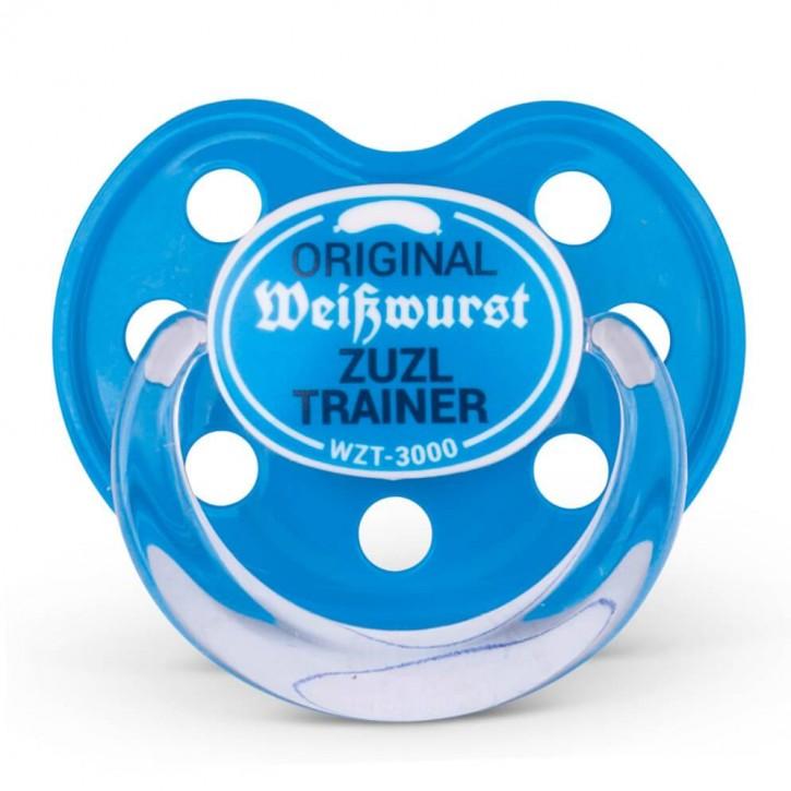 Schnuller Weißwurst Zuzl Trainer blau