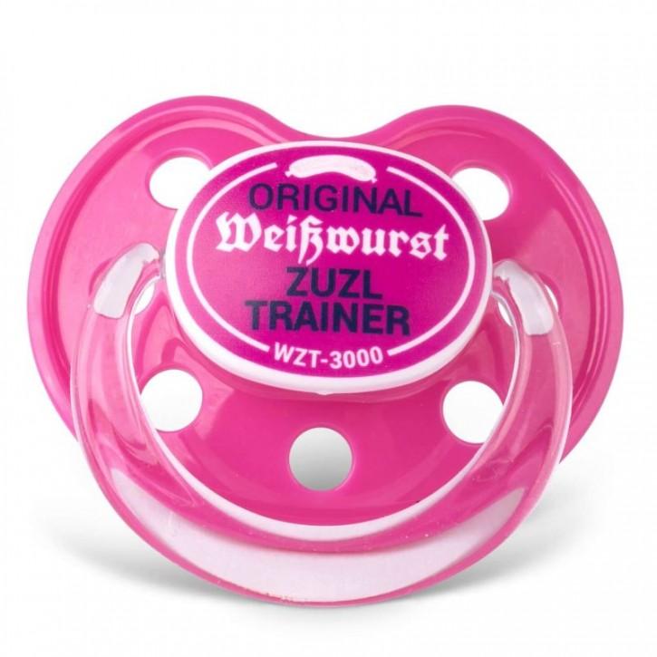 Schnuller Weißwurst Zuzl Trainer pink