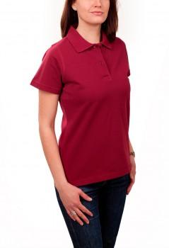 KringsFashion® Damen-Poloshirt Fine Line, tailliert, Farbe bordeaux
