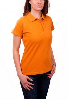 KringsFashion® Damen-Poloshirt Fine Line, tailliert, Farbe curry