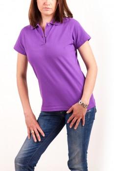 KringsFashion® Damen-Poloshirt Fine Line, tailliert, Farbe lila