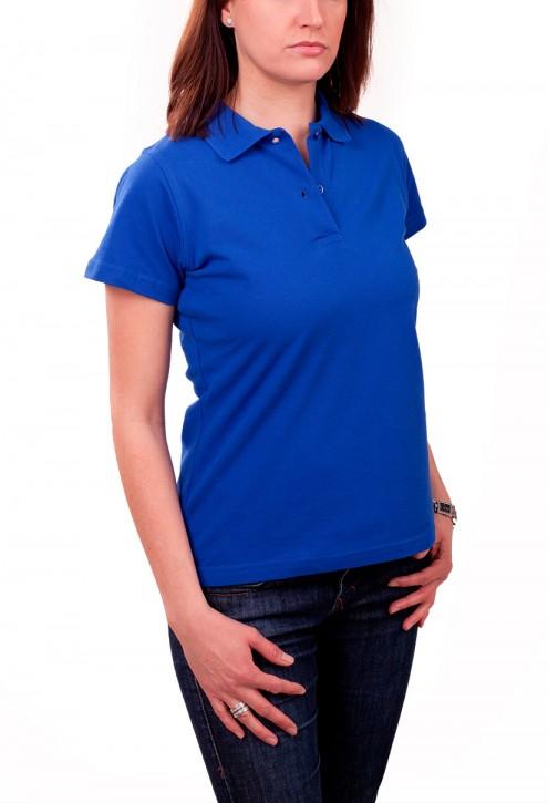 KringsFashion® Damen-Poloshirt Fine Line, tailliert, Farbe royal