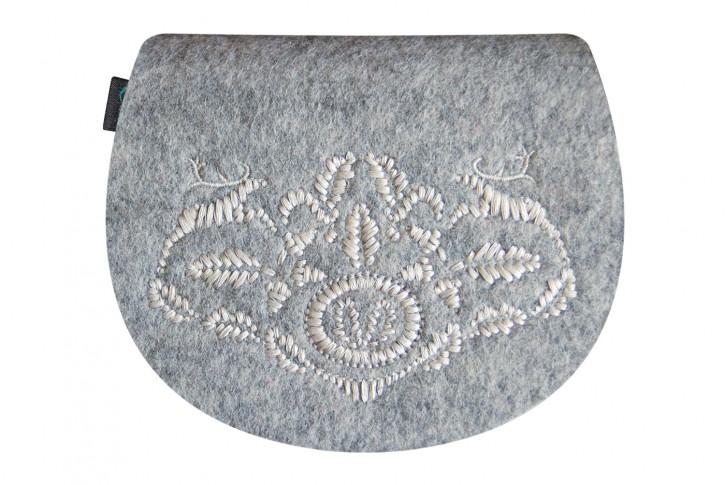 Gürteltasche kleine Dirndltasche Tracht Tasche hellgrau