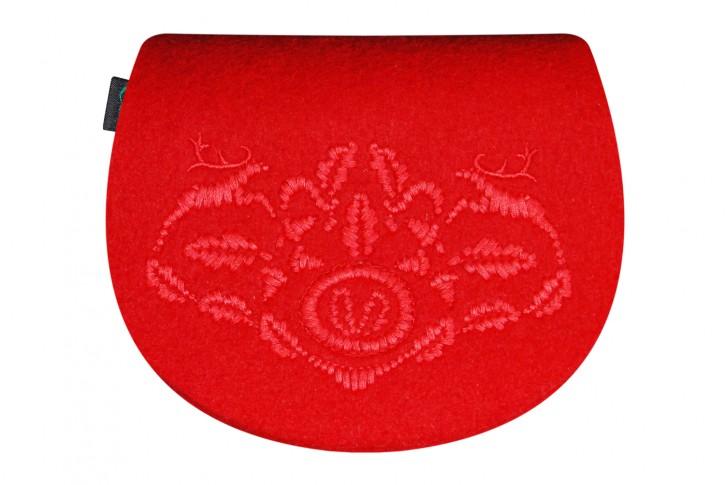 Gürteltasche kleine Dirndltasche Tracht Tasche rot