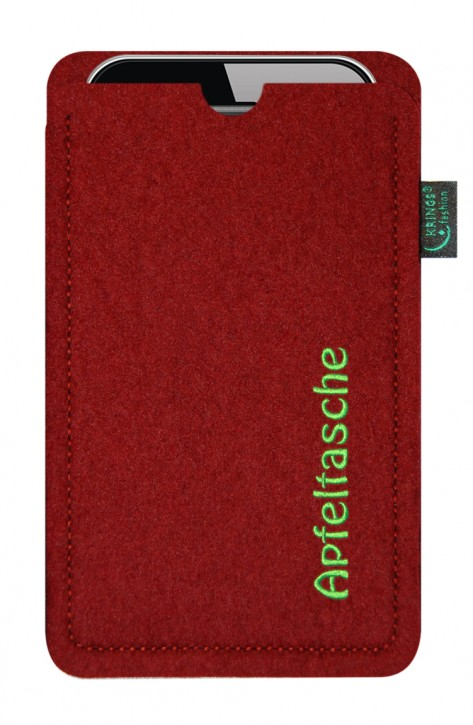 iPhone-Tasche/Hülle Apfeltasche Filz bordeaux - Wähle apple-Modell