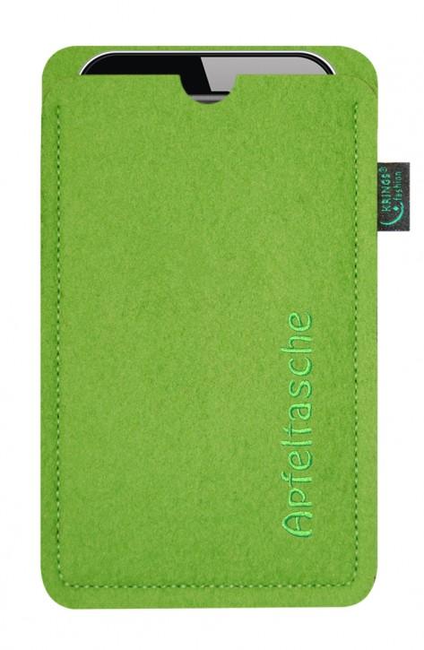 iPhone-Tasche/Hülle Apfeltasche Filz lime - Wähle apple-Modell