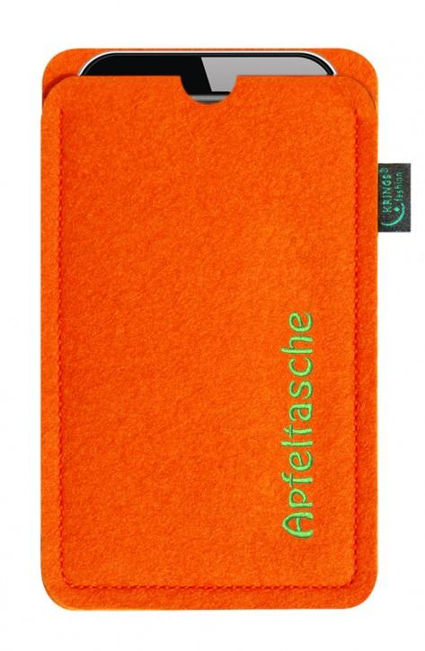iPhone-Tasche/Hülle Apfeltasche Filz orange - Wähle apple-Modell