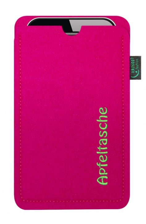 iPhone-Tasche/Hülle Apfeltasche Filz pink - Wähle apple-Modell