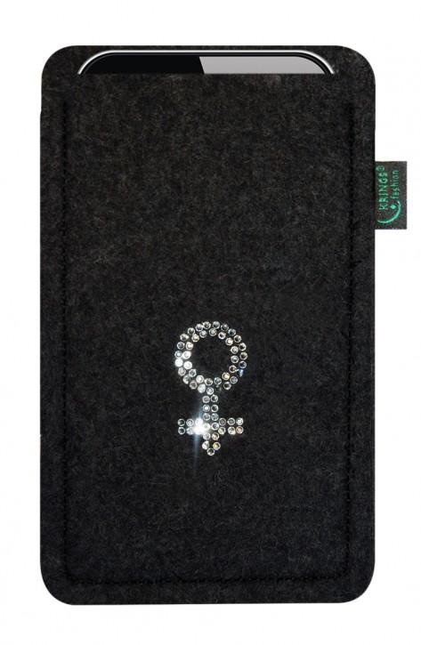 Tasche/Hülle Weiblich Swarovski-Kristalle Filz Farbe zur Auswahl - Wähle Smartphone