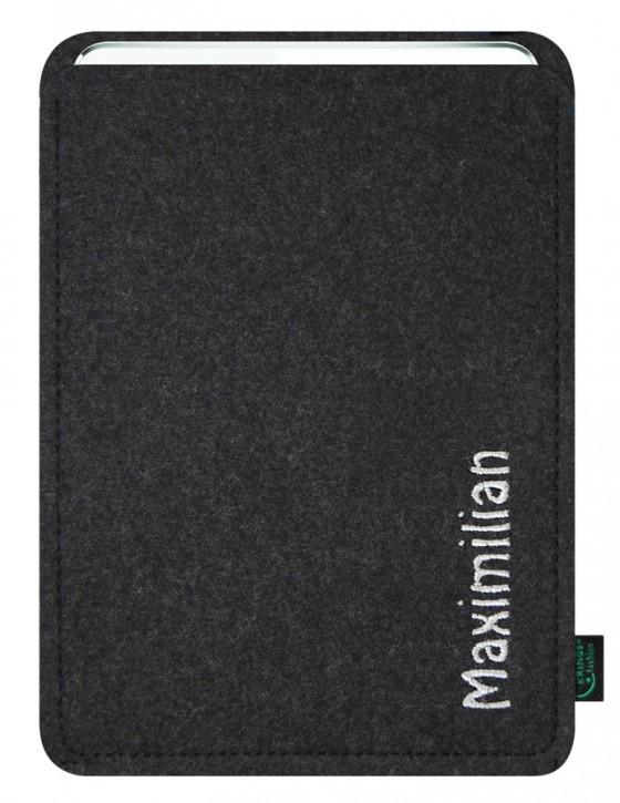 iPad Air 2 / iPad Air Tasche/Hülle Name/Wunschbegriff Filz anthrazit