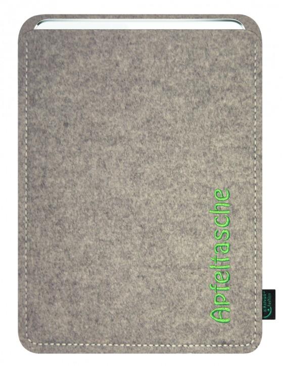 iPad Air 2 / iPad Air Tasche/Hülle Apfeltasche Filz hellgrau