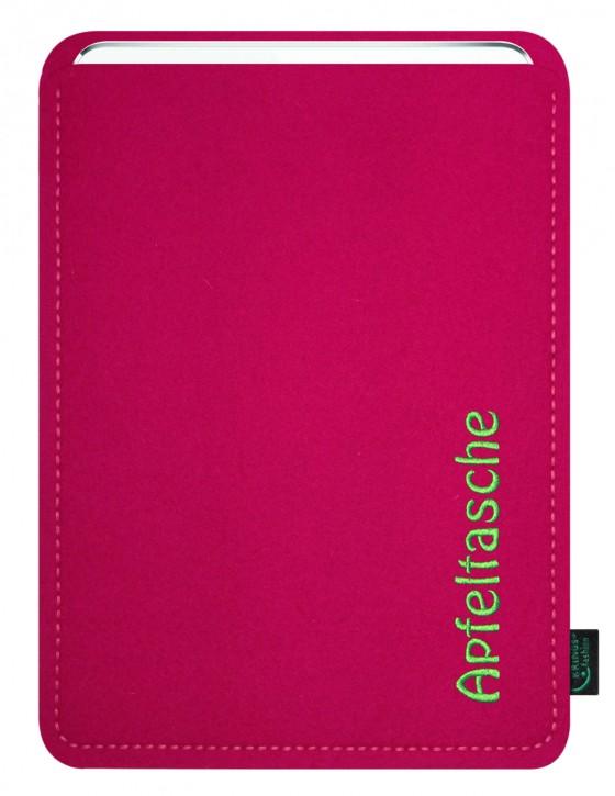 iPad Air 2 / iPad Air Tasche/Hülle Apfeltasche Filz pink