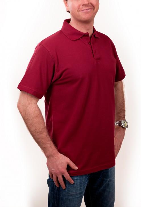 KringsFashion® Herren-Poloshirt Fine Line, Farbe bordeaux
